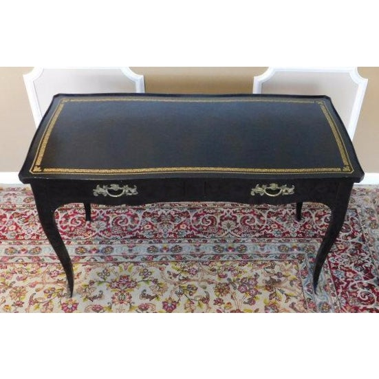 Jacques Bodart Louis XV Black Lacquered Desk For Sale In New York - Image 6 of 6