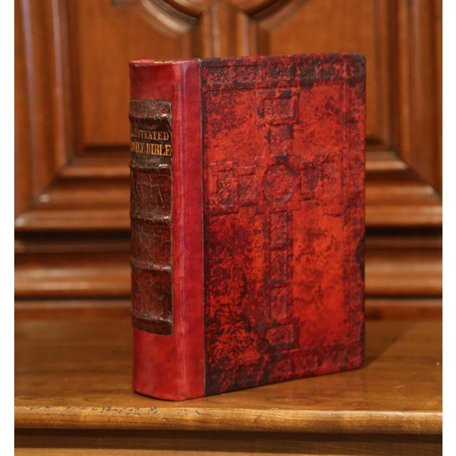Early 20th Century Leather and Gilt Illustrated King James Version Family Bible For Sale - Image 12 of 12