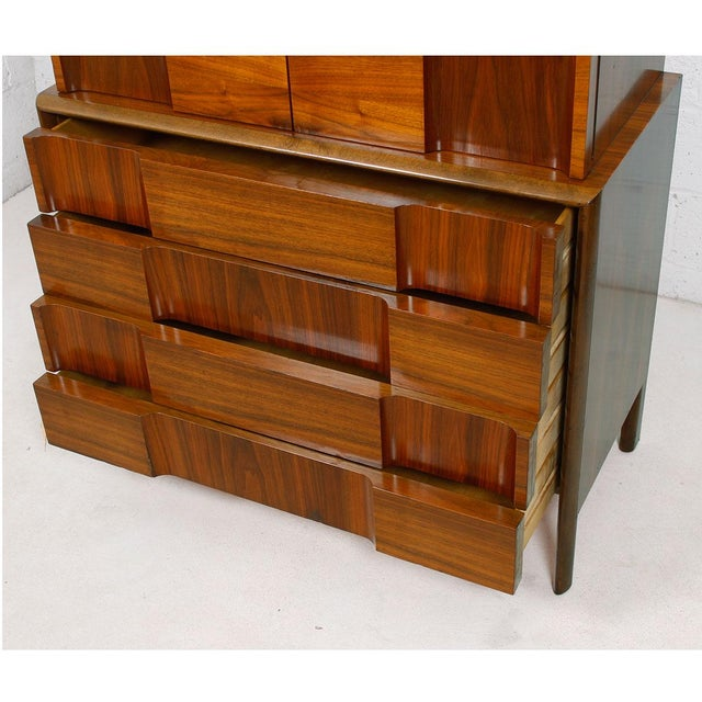 Swedish Modern Walnut Dresser by Edmund Spence - Image 7 of 10