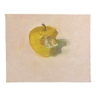 Original Contemporary Yellow Apple Still Life Painting For Sale