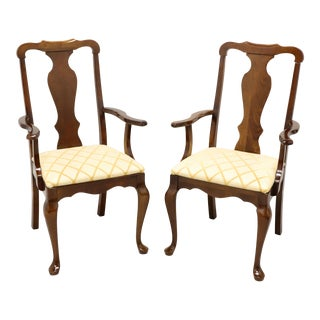 Pennsylvania House Solid Cherry Queen Anne Dining Captain's Armchairs - Pair For Sale