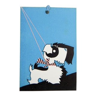 Vintage Deco Scottie Dog Bridge Tally Cards Place Cards - Set of 11 For Sale