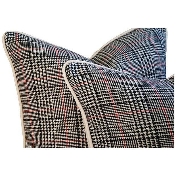 Custom Ralph Lauren Houndstooth Pillows - A Pair - Image 5 of 7