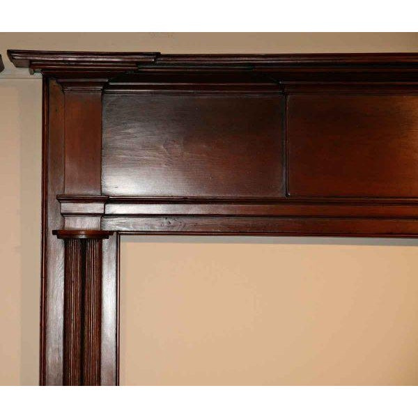 19th Century American Pine Wooden Mantel - Image 2 of 4