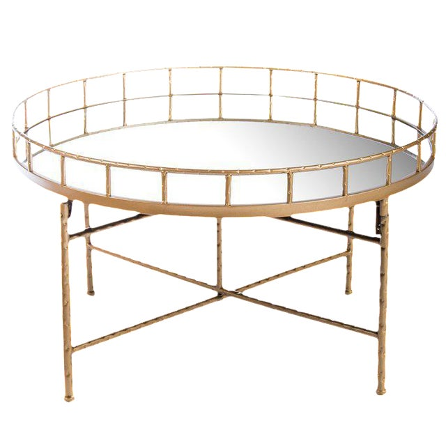 Statements by J Ariella Mirrored Cocktail Table For Sale