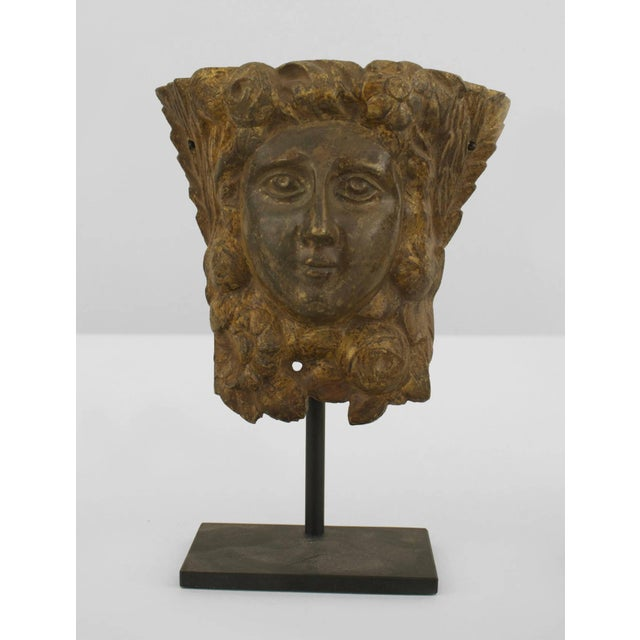Italian 19th C. Italian Neoclassical Mounted Bronze Relief Masks For Sale - Image 3 of 3