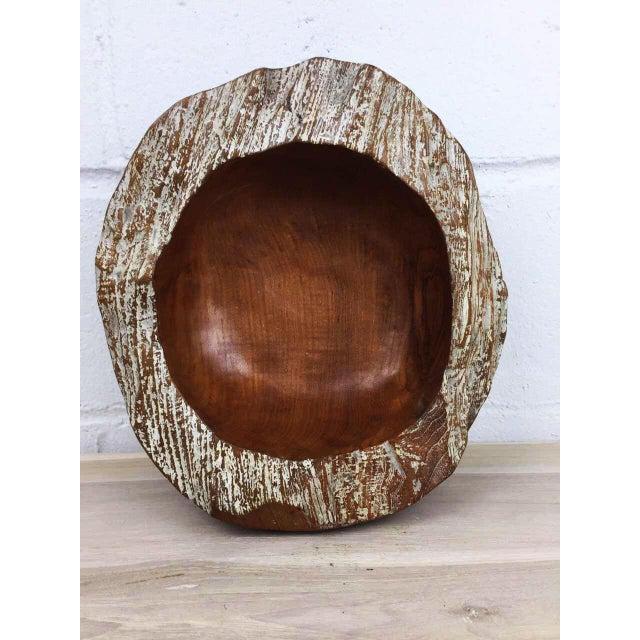 Handmade Teak Wooden Bowl - Image 8 of 11