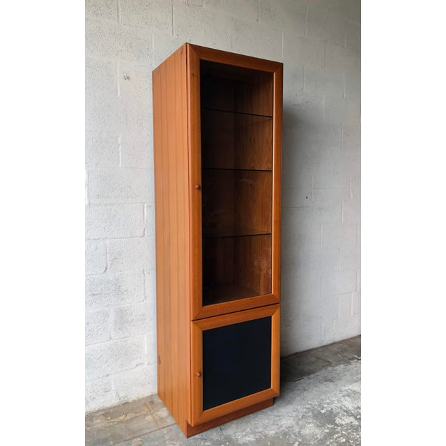 Vintage Mid Century Modern Danish Style Curio Display Cabinet. For Sale - Image 4 of 13