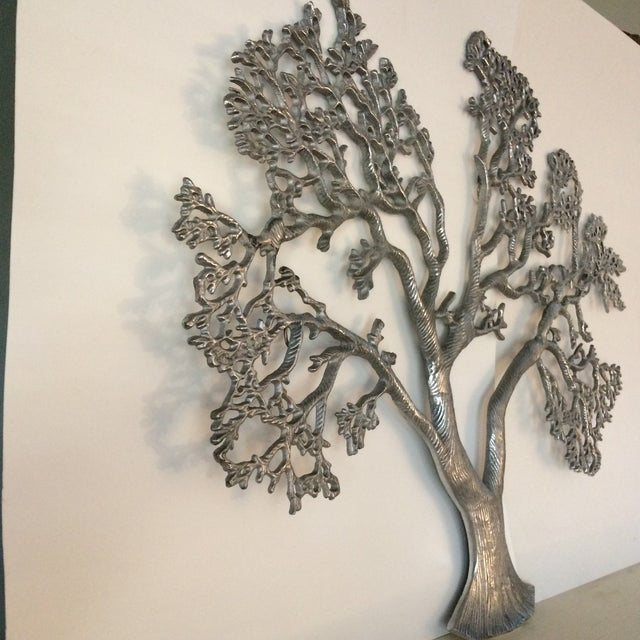 Mid-Century Industrial Aluminum Tree of Life - Image 4 of 11