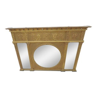 19th Century Federal Egyptian Style Gold Mantle Mirror