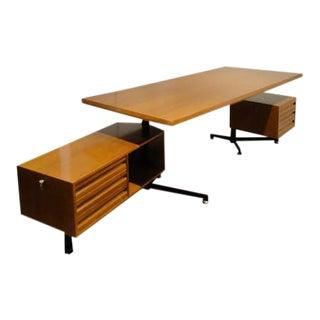 1950s Mid-Century Furniture T95 Desk by Osvaldo Borsani for Tecno For Sale
