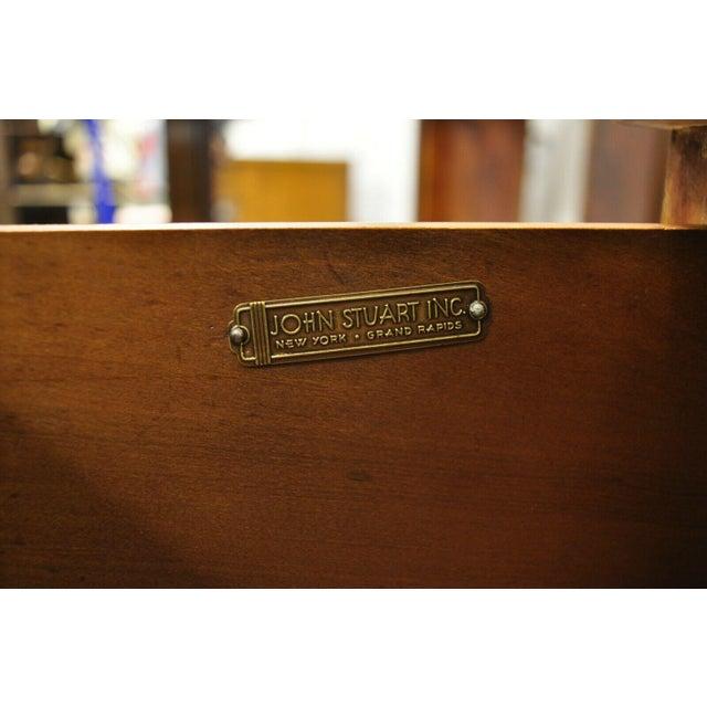 John Stuart Mid Century Modern Art Deco Birch Dresser For Sale - Image 10 of 13