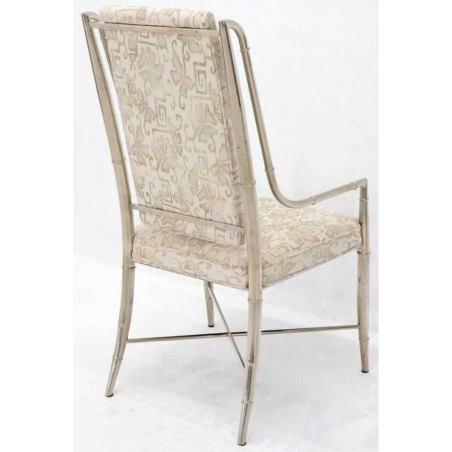 Cream Imperial Dining Room Chair by Weiman / Warren Lloyd for Mastercraft in Chrome For Sale - Image 8 of 13