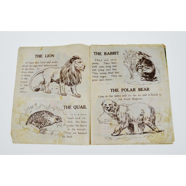 """Animals of All Lands"" Linen Children's Book - Image 4 of 11"