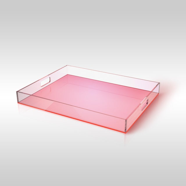 Pink Acrylic Tray - Image 2 of 3