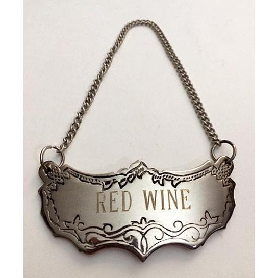 Gorham 20th Century Gorham Lady Anne Wine Decanter & Silver Red Wine Tag For Sale - Image 4 of 7