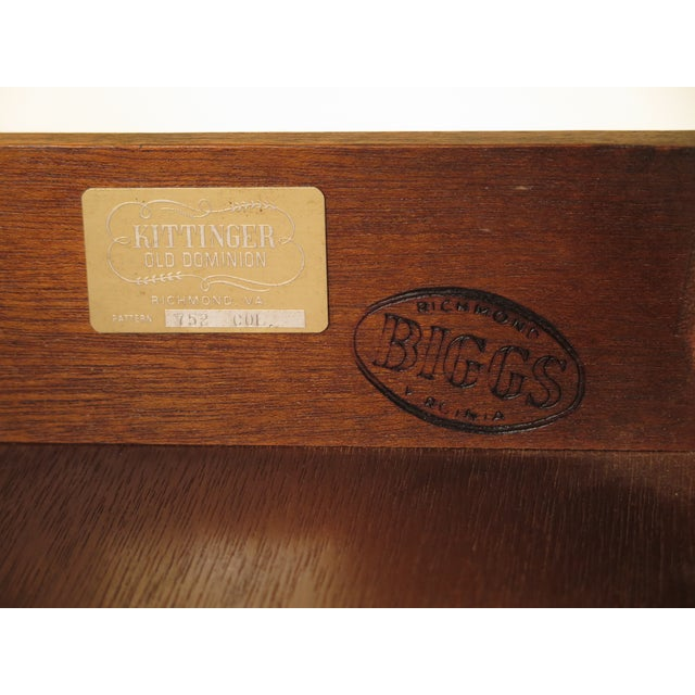 1960s Federal Kittinger Biggs Federal Inlaid Mahogany Ladies Writing Desk For Sale - Image 12 of 13