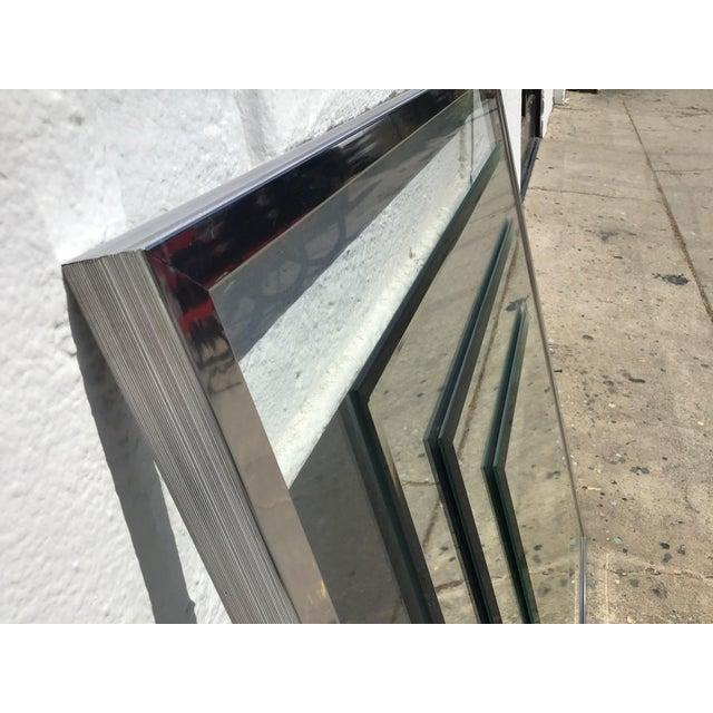 1980s Vintage 3D Framed Mirror For Sale - Image 4 of 11