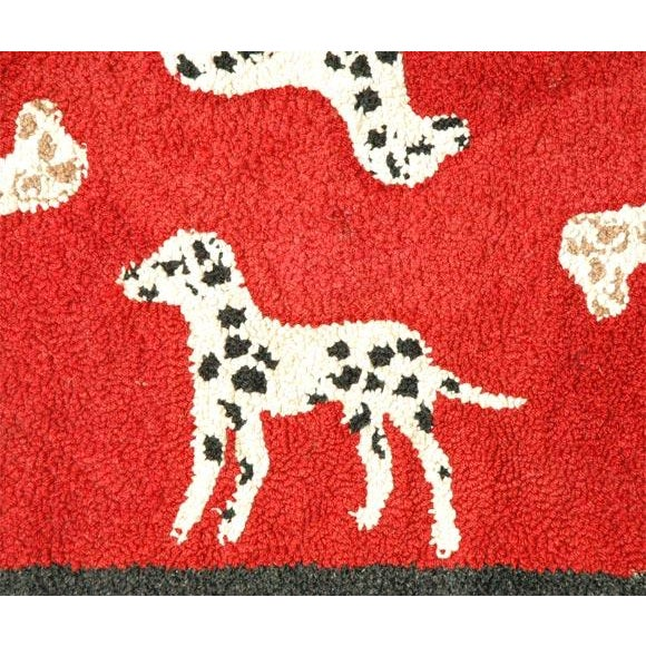 Traditional 1920s Hand Hooked and Mounted Pictoral Dogs Rug For Sale - Image 3 of 5