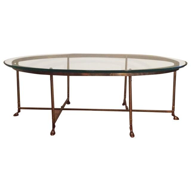 La Barge Gilt Glass Coffee Table - Image 1 of 6