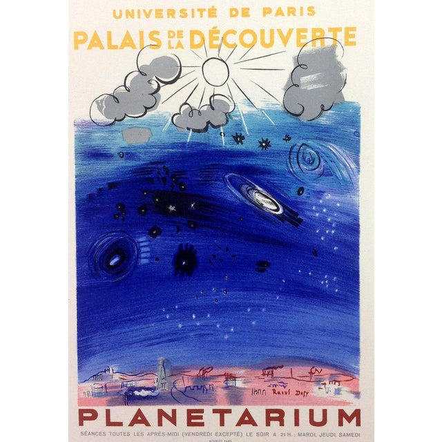 """1959 """"Planetarium"""" Raoul Dufy Lithograph Art in Posters, Mourlot For Sale"""