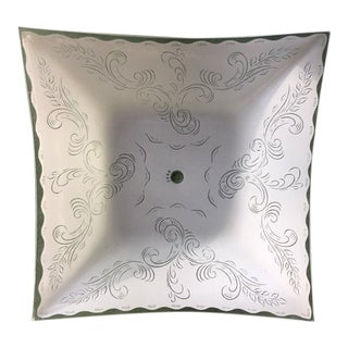 1950s Mid-Century Modern Glass Ceiling Light Shade For Sale