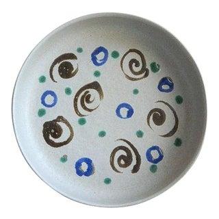 Martz Marshall Studios Vintage Shallow Ceramic Bowl For Sale