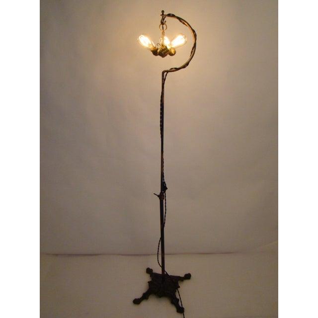 Antique Victorian Cast Iron Adjustable Floor Lamp - Image 9 of 11