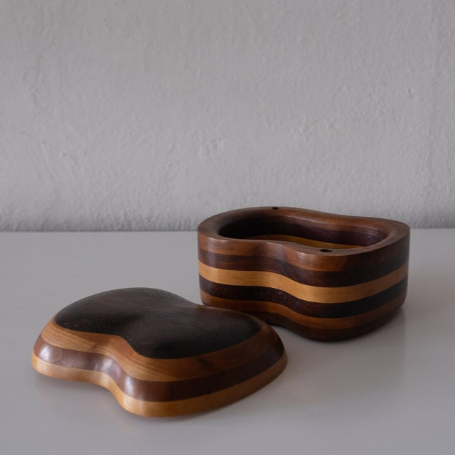 1960s Handcrafted Wood Jewelry Box, 1960s For Sale - Image 5 of 8