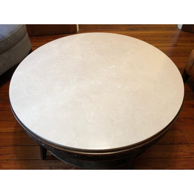 Marble Drexel Heritage Olio Collection Coffee Table For Sale - Image 7 of 8