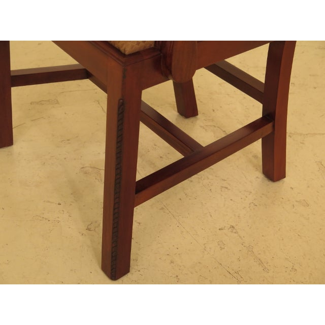 Wood Ej Victor Chippendale Style Mahogany Dining Chairs - Set of 8 For Sale - Image 7 of 13