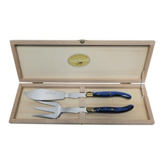 Vintage French Knife & Fork Set - A Pair