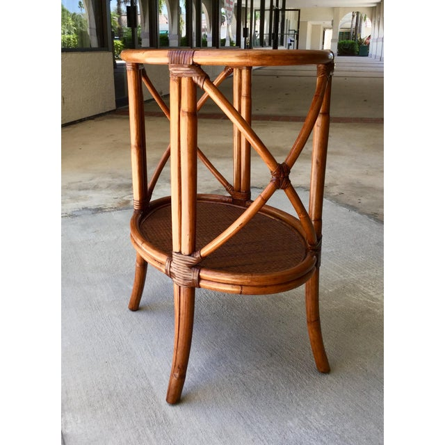 Early 21st Century Traditional Ethan Allen Tommy Bahama Style Bamboo Tray Table For Sale - Image 5 of 7