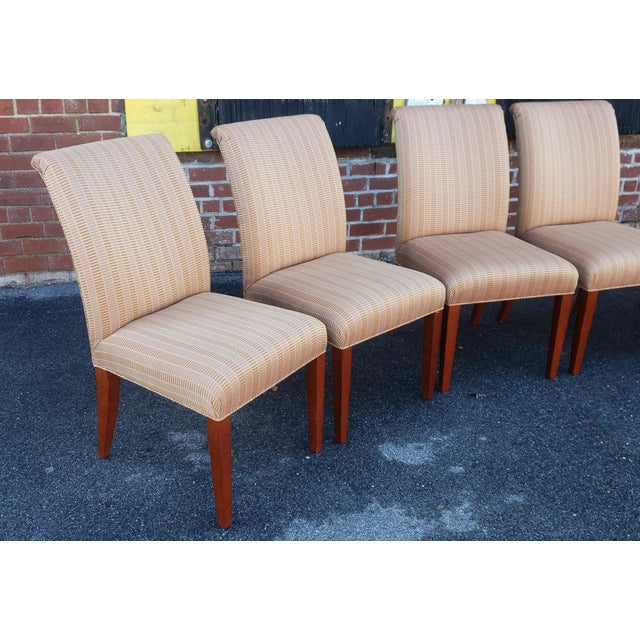 Set of 6 custom ordered and made Parsons style dining room side chairs made by Swaim Furniture, model #F-C219 and...