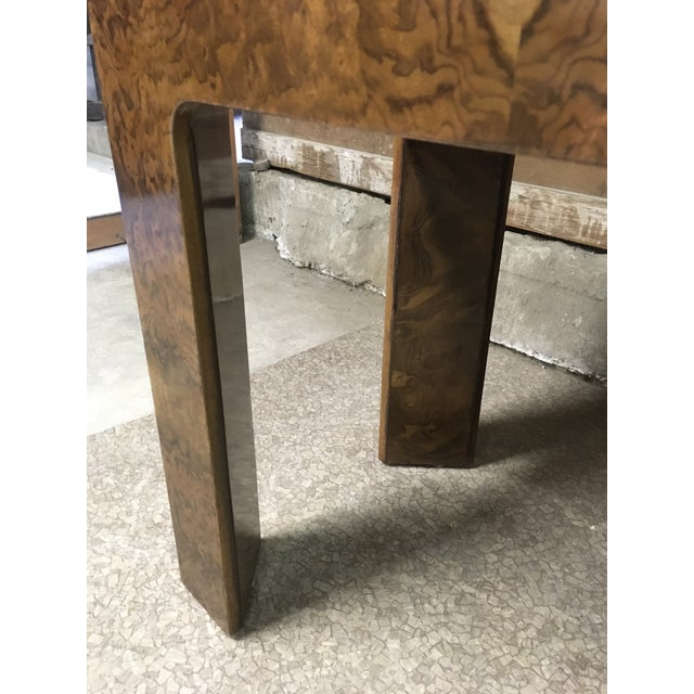 1970s Burlwood Console Table For Sale In Los Angeles - Image 6 of 11
