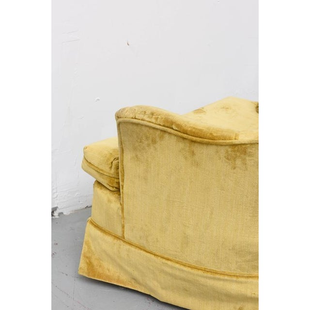 Textile High Back Swivel Tufted Rocker/Lounge Chairs--1960s For Sale - Image 7 of 8