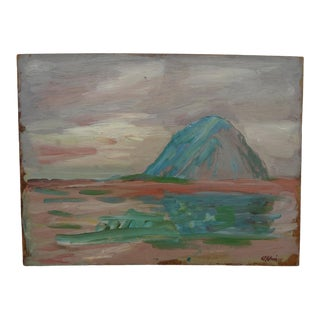 """""""Sunset on Morro Rock"""" Oil Painting by Anders Aldrin For Sale"""
