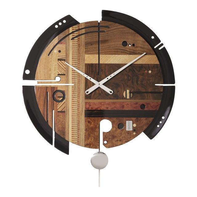 ArosioMilano Samada Brown Wall Clock For Sale