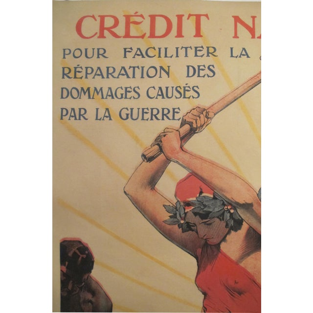 1920 French Vintage Propaganda Poster, Credit National - Image 3 of 6