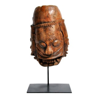 Vintage Indian Wooden Mask For Sale