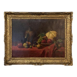 Antique Framed Oil Painting by Jacqmotte Dated 1908 For Sale