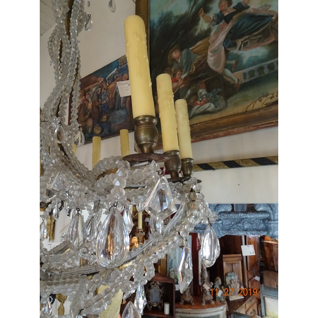French Crystal Chandelier For Sale - Image 10 of 12