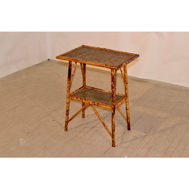 19th C Bamboo Side Table For Sale - Image 4 of 8