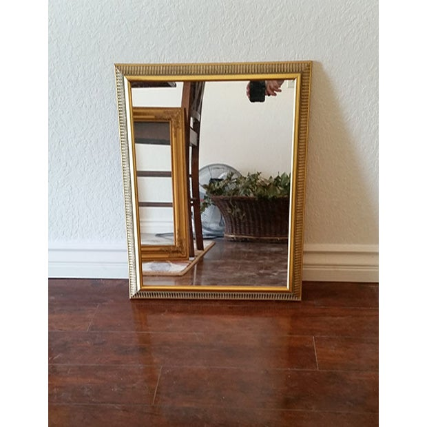 Vintage Gold Painted Wood Framed Mirror - Image 3 of 5