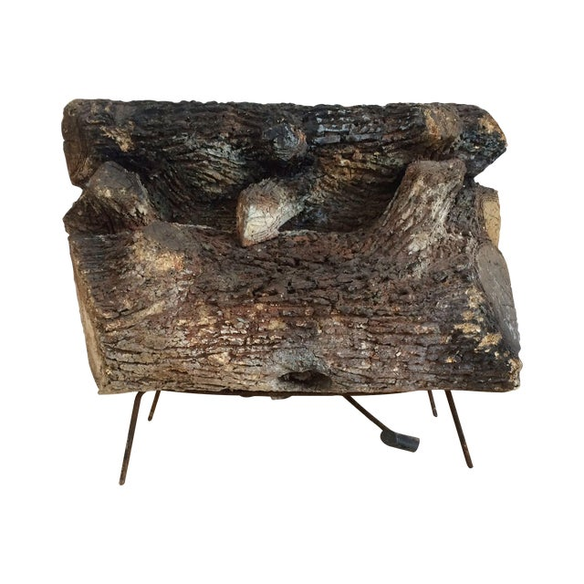 Vintage Faux Fire Log - Image 1 of 6