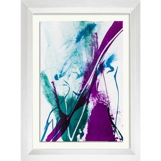 1960s Modern Paul Jenkins Lithograph Original, Hand Signed in Pencil, on Rives W/Framing For Sale