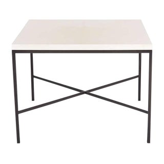 Customizable Trapp Parchment Top Side Table For Sale