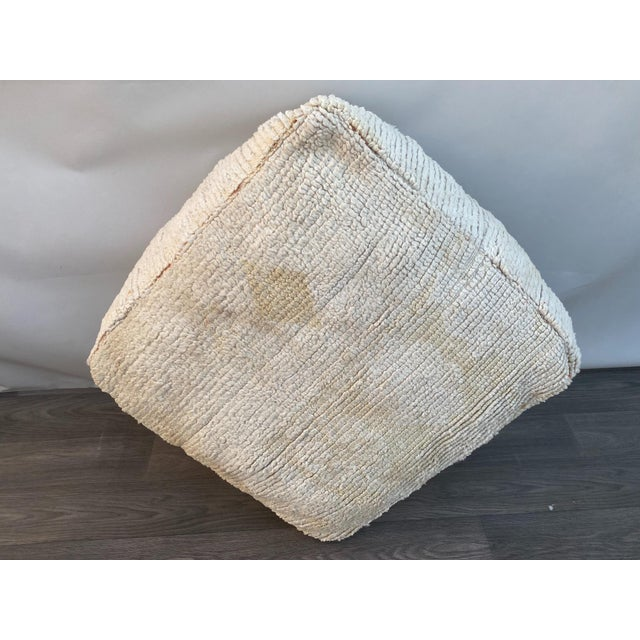 Textile 1980s Berber Moroccan Pouf Cover For Sale - Image 7 of 13