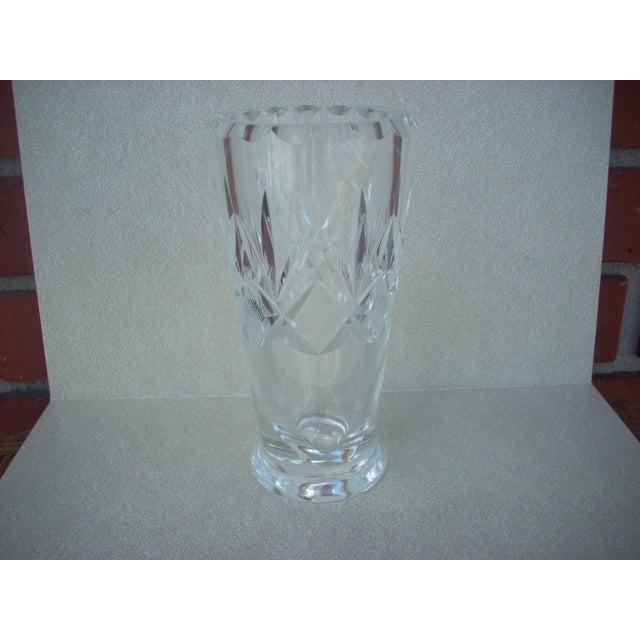 Orrefors Cut Clear Crystal Vase Chairish