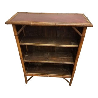 1850s Asian Bamboo Three Shelf Book or Display Case For Sale